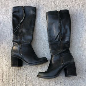 Steve Madden Wishfil Leather Knee High Boots
